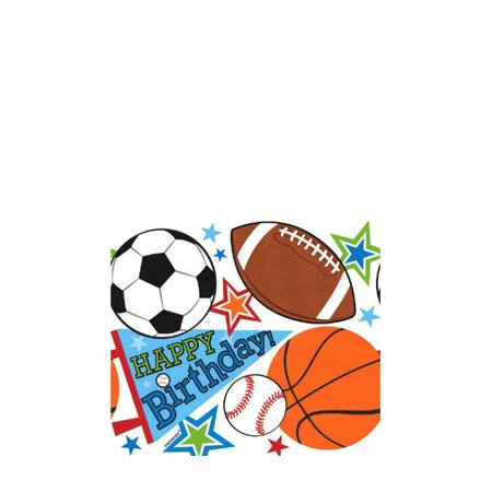 Amscan Amscan Sports Happy Birthday Party Plastic Table Cover Sports Party Supplies