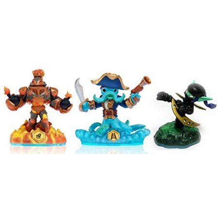 skylanders swap force loose blast zone, wash buckler, & ninja stealth elf set includes card online code
