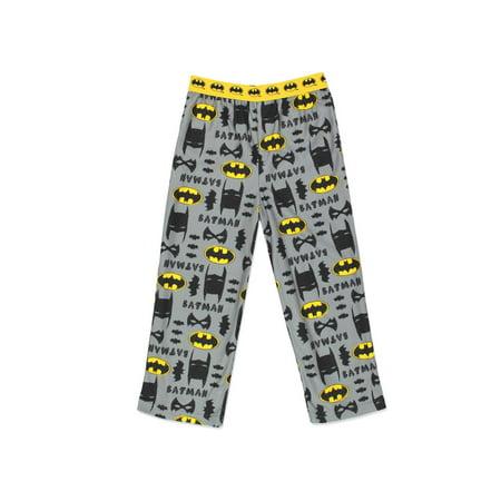 Batman Boy's Flannel Pajama Pants (Little Kid/Big Kid) 21BM242BPT](Batman Kids)