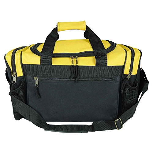 """DALIX 17"""" Duffle Travel Bag with Water Bottle Mesh Pockets in Navy Blue"""