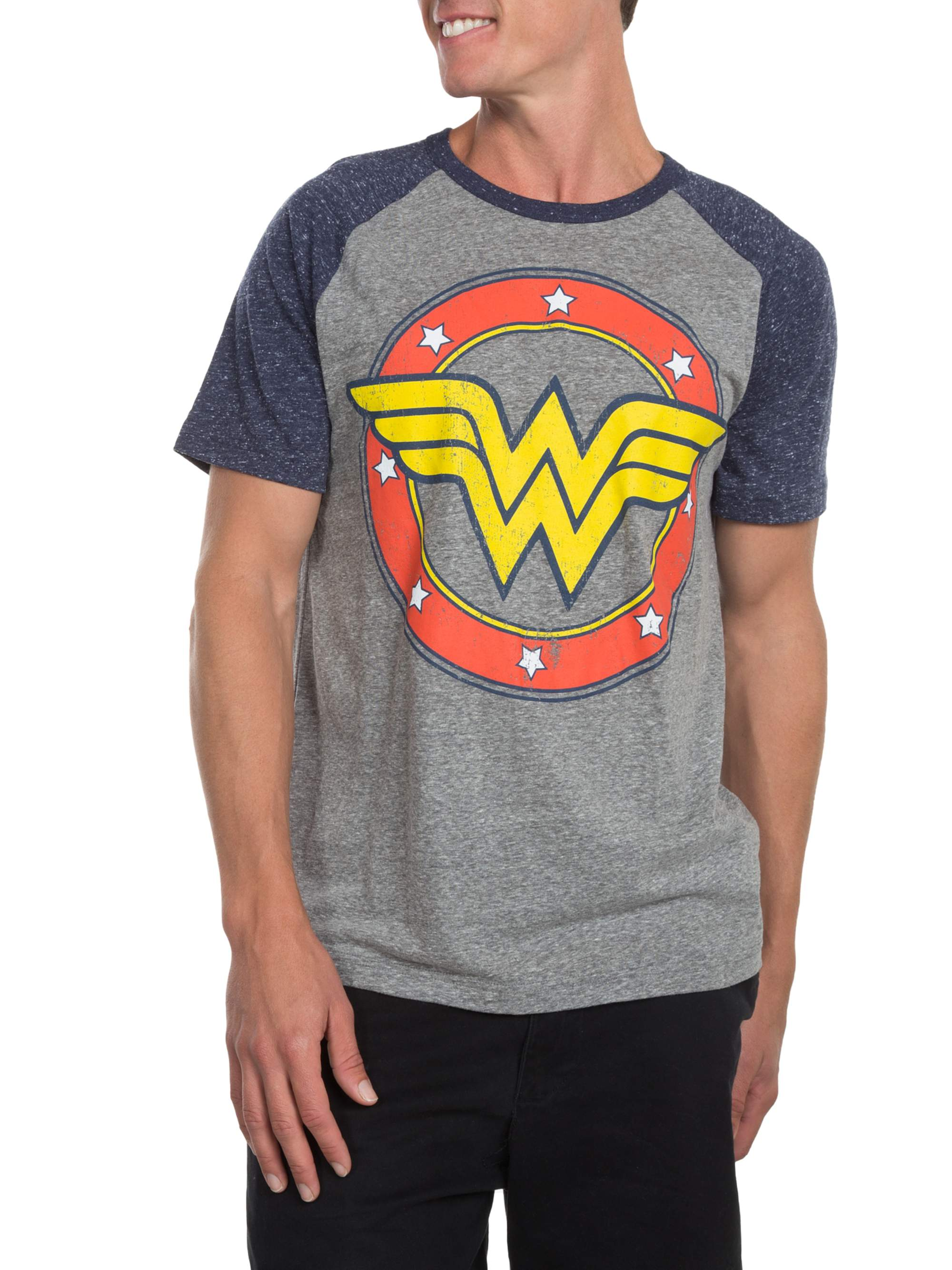 Wonder Woman Men's Logo Short Sleeve Graphic T-Shirt , up to Size 2XL