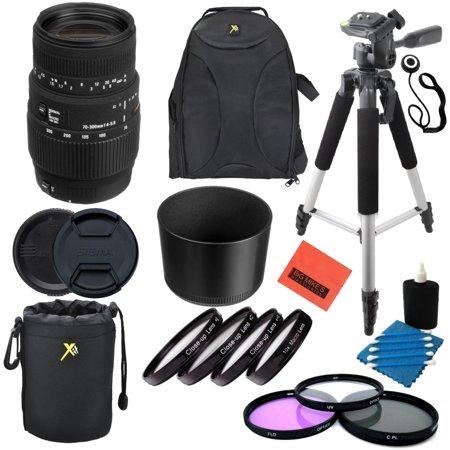 Built In Camera - Sigma 70-300mm f/4-5.6 SLD DG Macro Lens with built in motor for Nikon Digital SLR Cameras - Professional Kit
