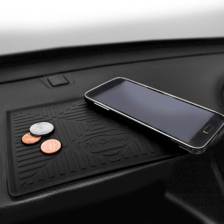 FH Group Odorless Waterproof Silicone Anti Slip Dash Mat, Black Caramel Dash Cover Mat