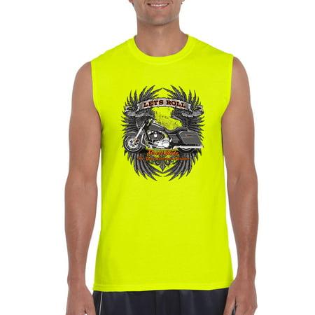 5c2db31a J_H_I - Biker T-Shirt Let'S Roll Street Glide Mens Sleeveless Shirts -  Walmart.com