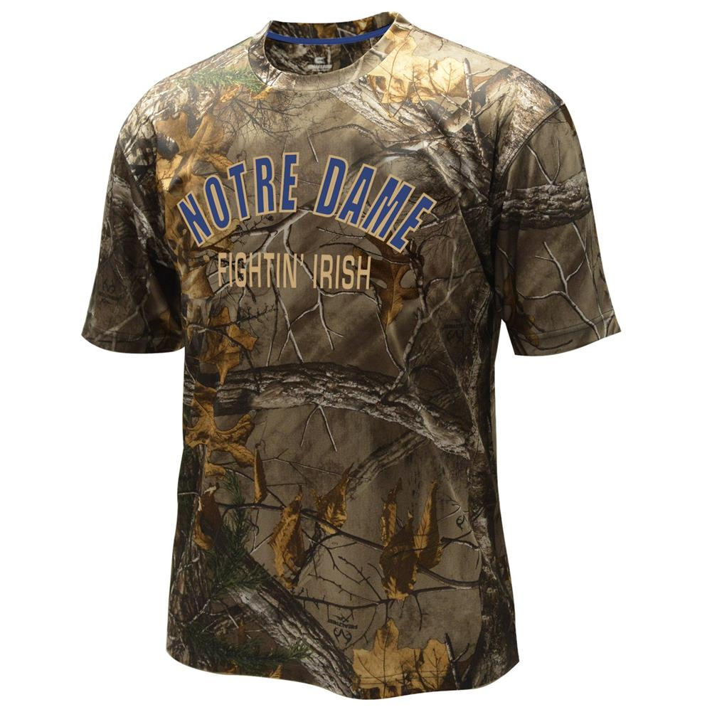Click here to buy Men's Performance Notre Dame Fighting Irish Realtree Camo Tee by Colosseum.