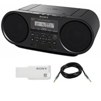 Sony ZSRS60BT CD Boombox (Black) w/ Sony 8GB Micro Vault & Accessory Bundle