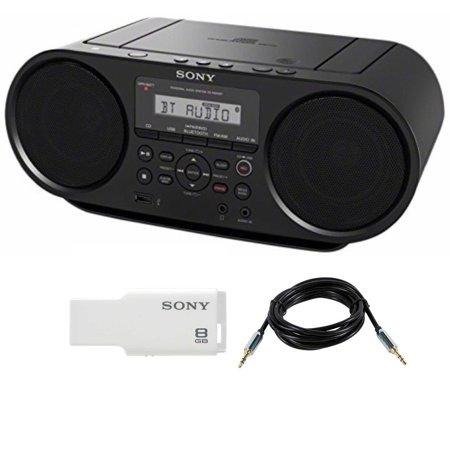 Sony ZSRS60BT CD Boombox (Black) w/ Sony 8GB Micro Vault & Accessory