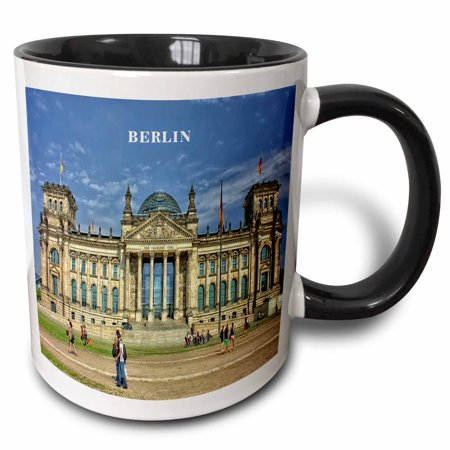 Berlin Government Buildings - 3dRose Lovely Architecture Berlin Government Building Germany, Two Tone Black Mug, 11oz