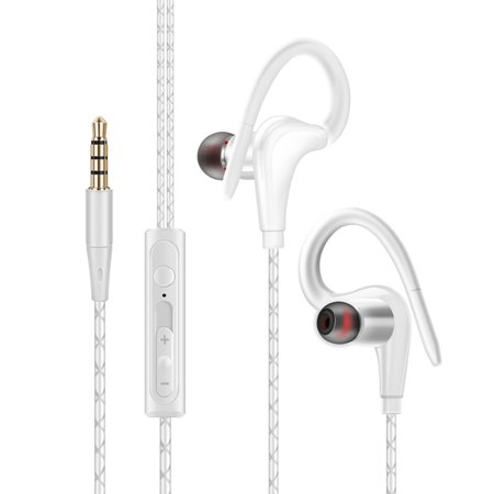 EEEKit Sport Running Earphone, In-Ear Wired Headphone, Earbuds Over Ear Hook 3.5mm Jack, Cell Phone Ear Buds Headset Waterproof