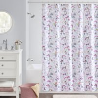 Your Zone Skating Unicorn Printed Shower Curtain, 1 Each