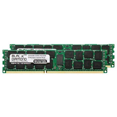 64GB 2X32GB Memory RAM for Compaq ProLiant SL390s G7 (625538-B21), SL390s G7 (625539-B21), SL390s G7 (625540-B21), SL390s G7 (625541-B21), SL390s G7 (625542-B21) DDR3 ECC Registered RDIMM 240pin PC3