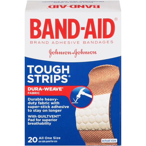 Band-Aid Brand Tough-Strips Adhesive Bandages, 20 Count