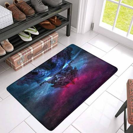 POP A Huge Black Dragon Indoor Doormat 30x18 Inches Non Slip Front Entrance Door Mat Rug - image 2 of 3