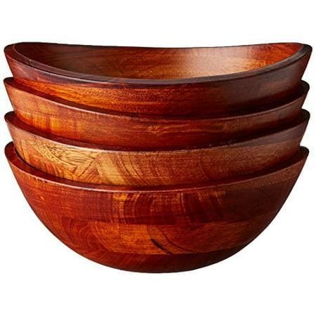 Lipper Small Cherry Wavy Rim Bowls, Set of 4 Wavy Rim Bowl Set