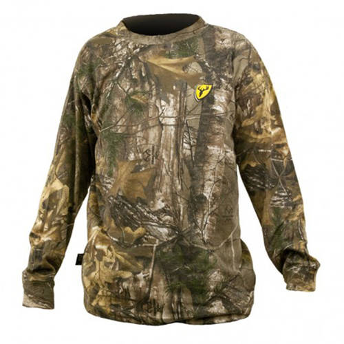 Youth Realtree Long Sleeve T-Shirt ScentBlocker, Realtree Xtra, Available in Multiple Sizes