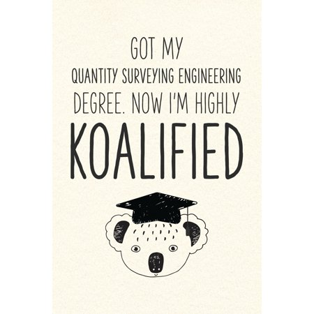 Got My Quantity Surveying Engineering Degree. Now I'm Highly Koalified : Funny Blank Notebook for Graduation (My Survey)