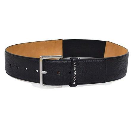 Michael Kors Womens Luggage Wide Stretch Belt (Black, - Michael Kors Woven Belt
