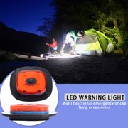 Binduo USB Rechargeable 4LED Outdoor Sport Hat Light Emergency Camping Warning Lamp