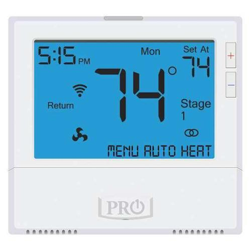PRO1 IAQ WiFi Thermostat, 7 Day Programmable, Stages 4 Heat/2 Cool, T855i