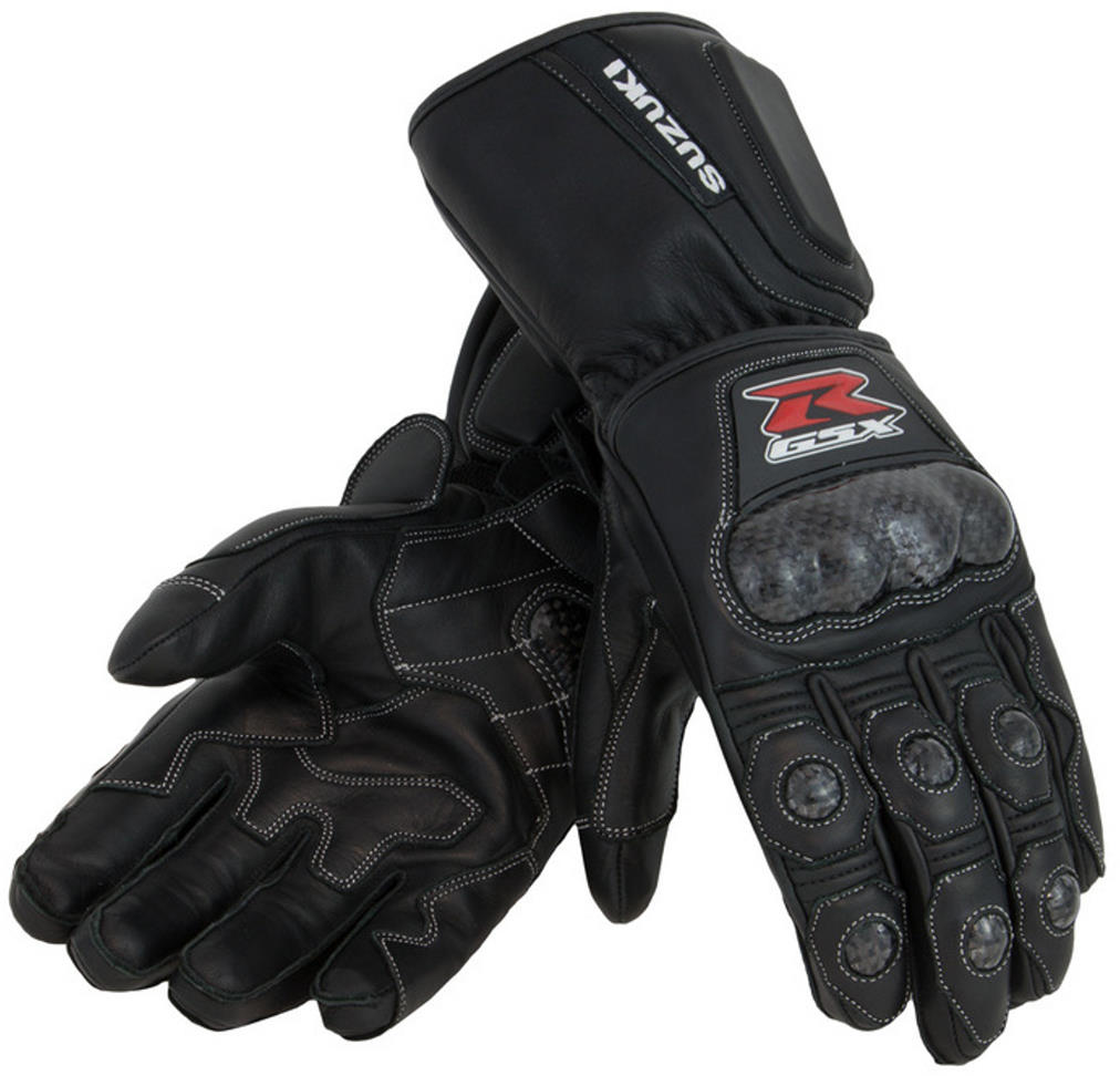 SUZUKI GSXR Gixxer GSX-R Leather Gauntlet Glove Black X-L...