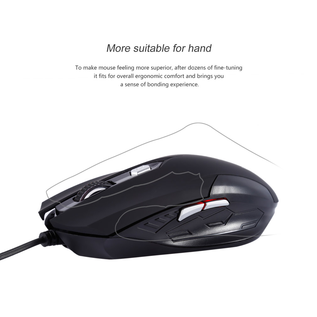 Hot Sale Professional G41 2.4GHz 1600dpi Optical Wired Gaming Game Mouse with USB 6 Buttons Gaming Mouse Computer Mice For PC lapt op