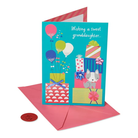 American Greetings Premier Presents Birthday Greeting Card for Granddaughter with Gemstones ()