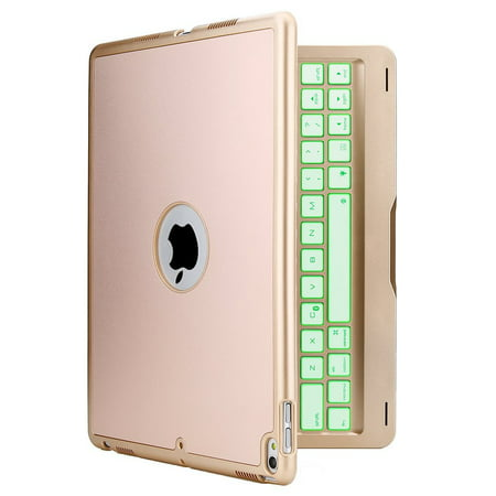 iPad Pro 10.5 Keyboard Case, Tagital F105 7 Colors LED Backlit Bluetooth Keyboard and Protective Case Cover for Apple 10.5 inch iPad Pro 2017 Version (Apple Ipad Keyboard Dock)