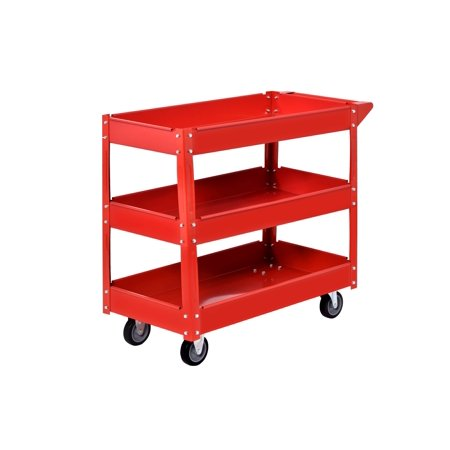 Steel Industrial Commercial Service Cart in Red