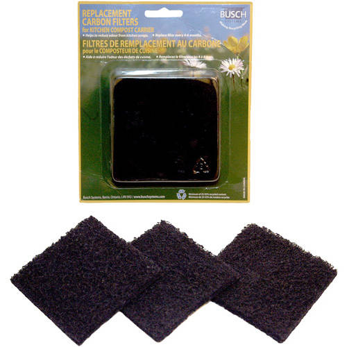 Eco Kitchen Compost Pail Replacement Filters, 3-Pack