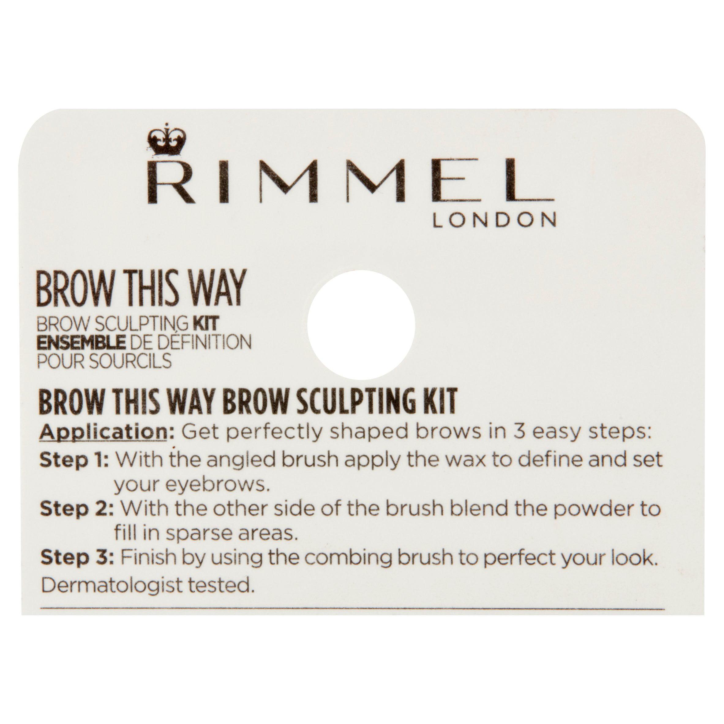 1e791ed60dd Rimmel Brow This Way Brow Sculpting Kit, Blonde - Walmart.com
