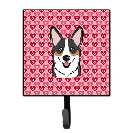 Tricolor Corgi Hearts Leash or Key Holder BB5325SH4