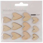 Kaisercraft Wood Flourishes, 12pk