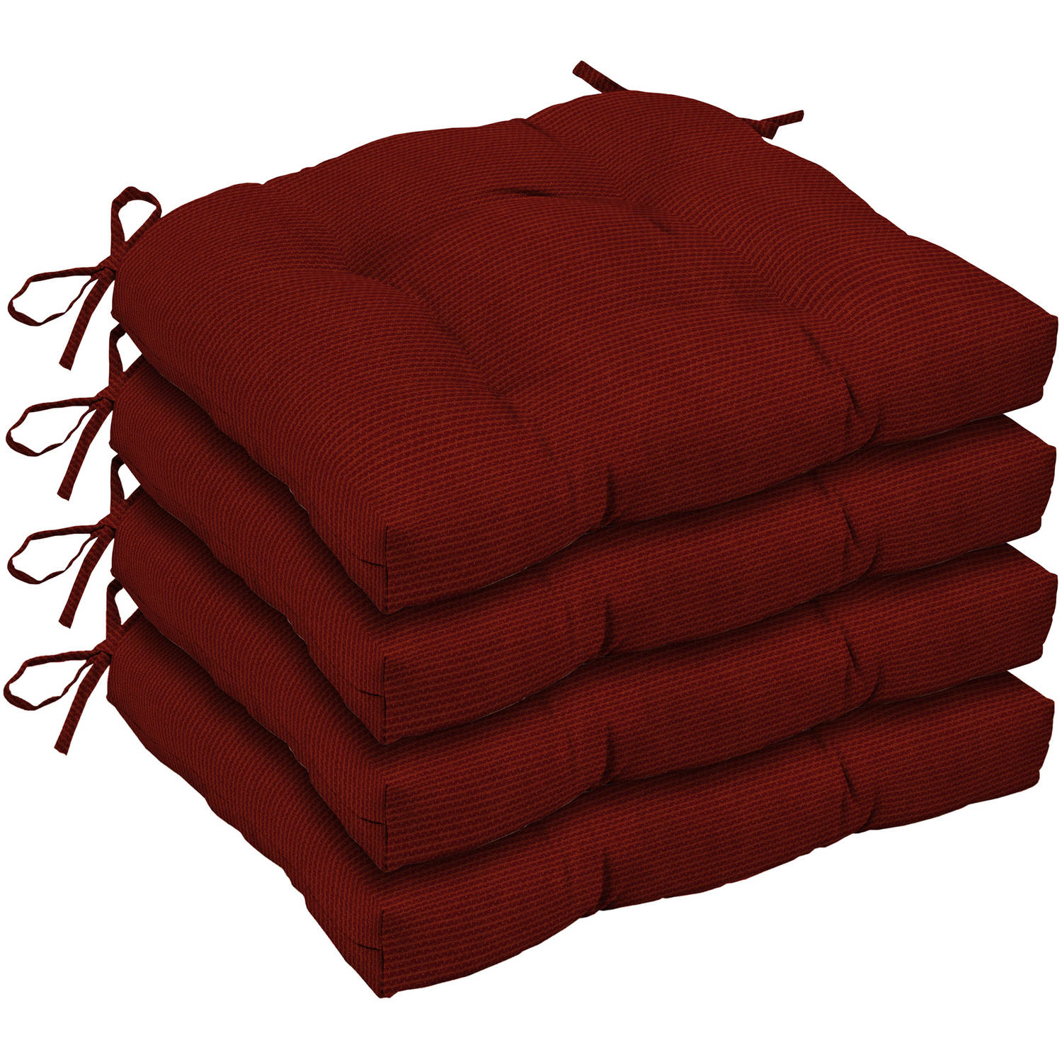 Arden Outdoors Red Rib Woven Wicker Seat Cushion, Set of 4