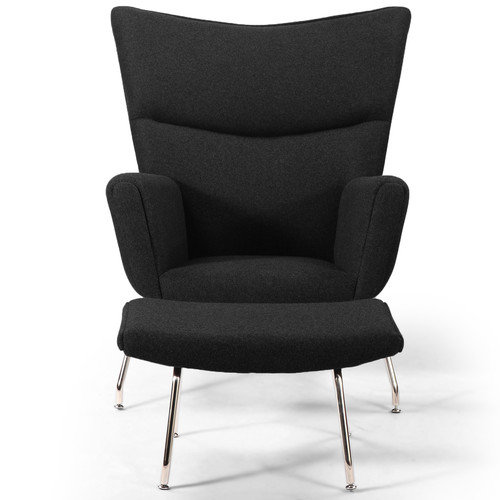 Kardiel Wing Arm Chair with Ottoman