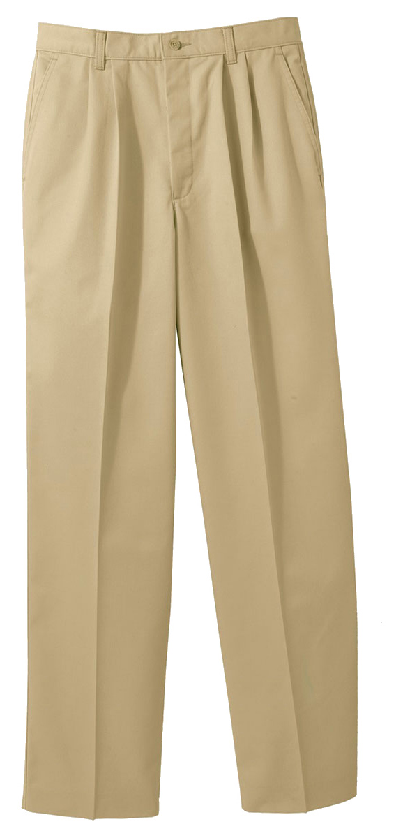 Edwards Garment Mens Pleated Pocket Casual Chino Resistant Button Pant