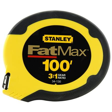 Stanley FatMax 34-130 100' Long Tape Measure - Lead Tape Reel