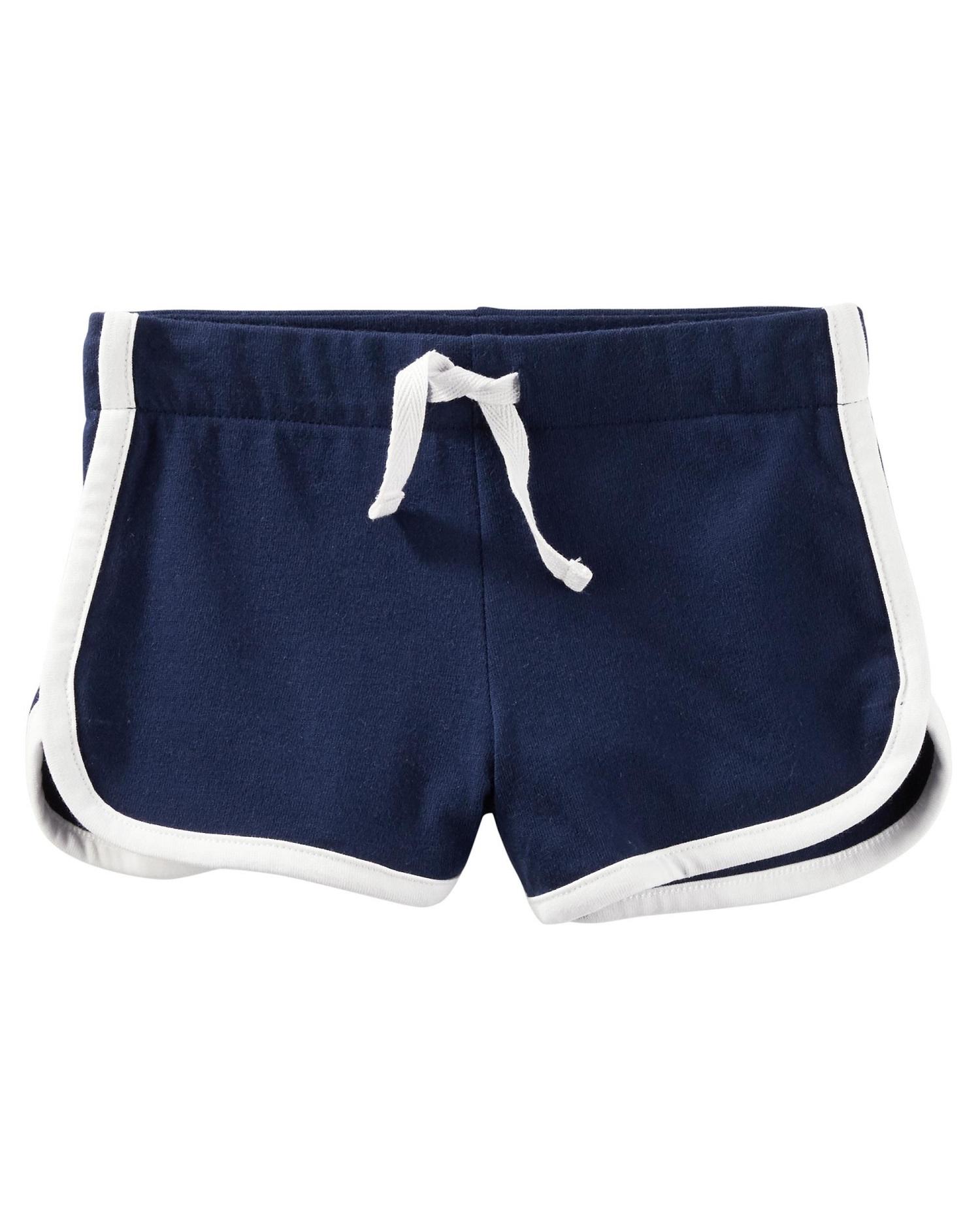 OshKosh B'gosh Baby Girls' Pull-On Jersey Shorts, 18 Months