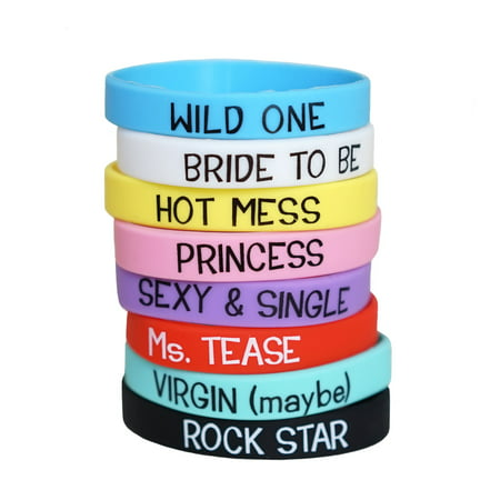 Bachelorette Party Fun & Games Bracelets for Bridal Party - Assorted Colors](Bachlorette Party)