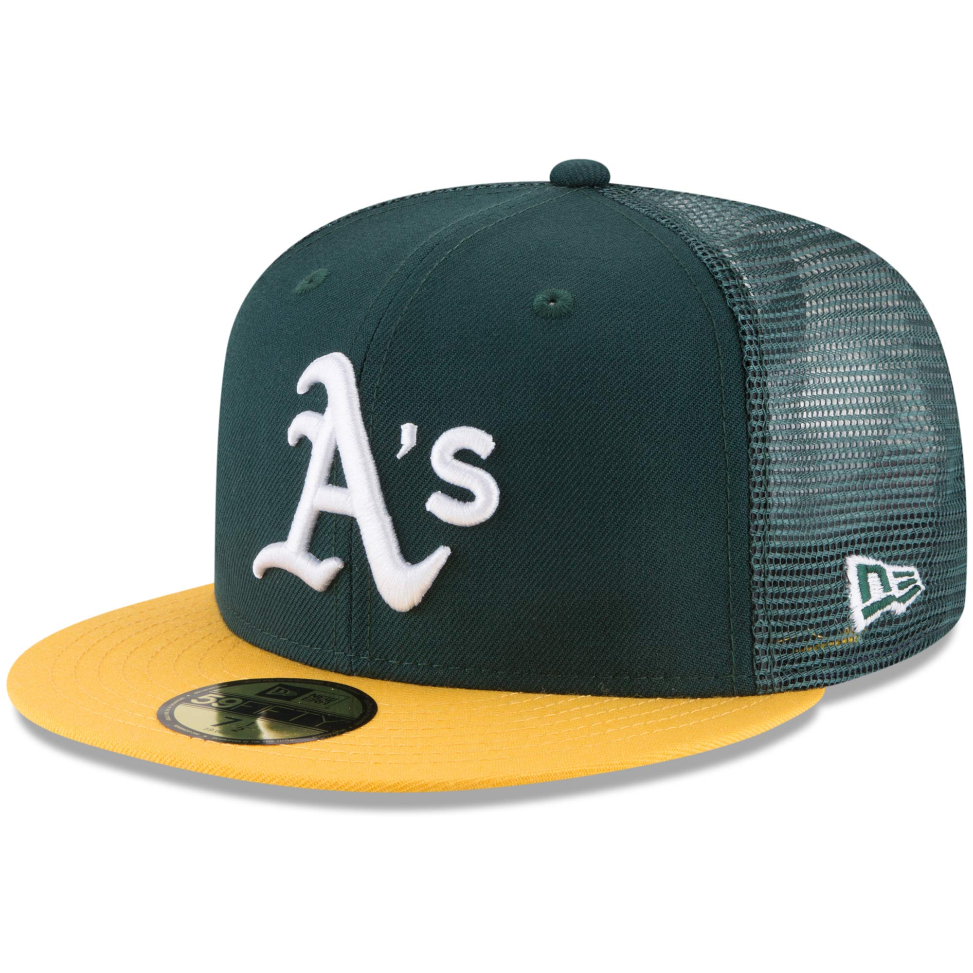 outlet store more photos good quality Oakland Athletics New Era On-Field Replica Mesh Back 59FIFTY ...