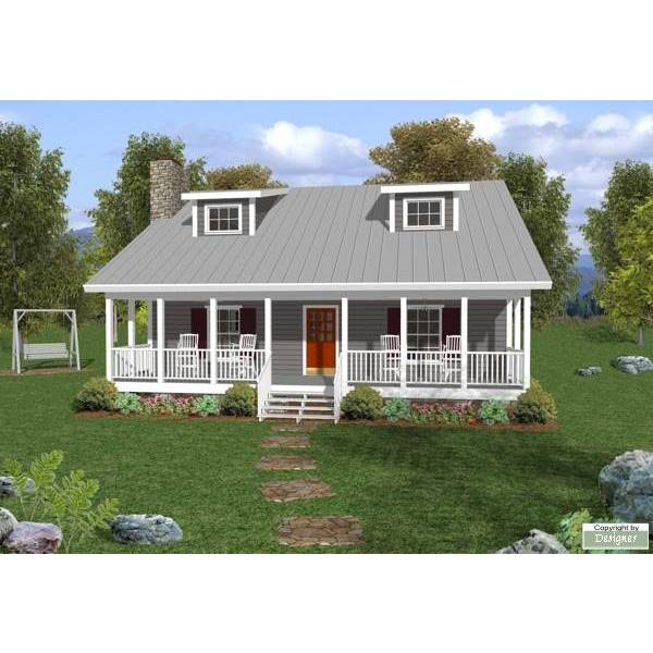 TheHouseDesigners-6619 Cottage House Plan with Basement Foundation (5 Printed Sets)