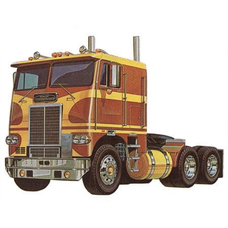 White Freightliner Dual Drive Tractor Plastic Model Kit