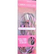 Refurbished 360 Electrical 360401 QuickCharge Braided Micro USB Cable, 3'/0.9m, Pink