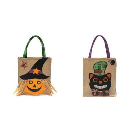 Cat Handbag Halloween Tote Bag Cat Shopping Cat Black Cat Tote Bag Black Cat Bag Trick or Treat Bag Halloween Cat