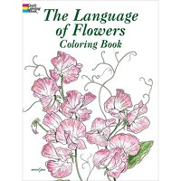 Dover Publications, The Language Of Flowers Coloring Book