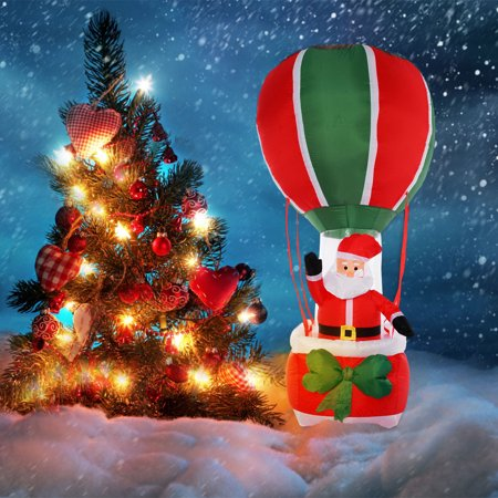 Costway 8 ft airblown inflatable christmas santa claus for 4 foot santa claus decoration