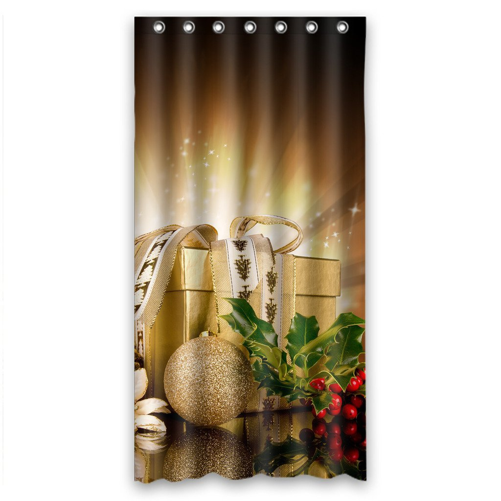 GreenDecor Beautiful Christmas Gift Waterproof Shower Curtain Set with Hooks Bathroom Accessories Size 36x72 inches