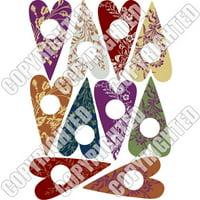 Nunn Design Transfer Sheet Floral Hearts For Scrapbook - Fits Patera