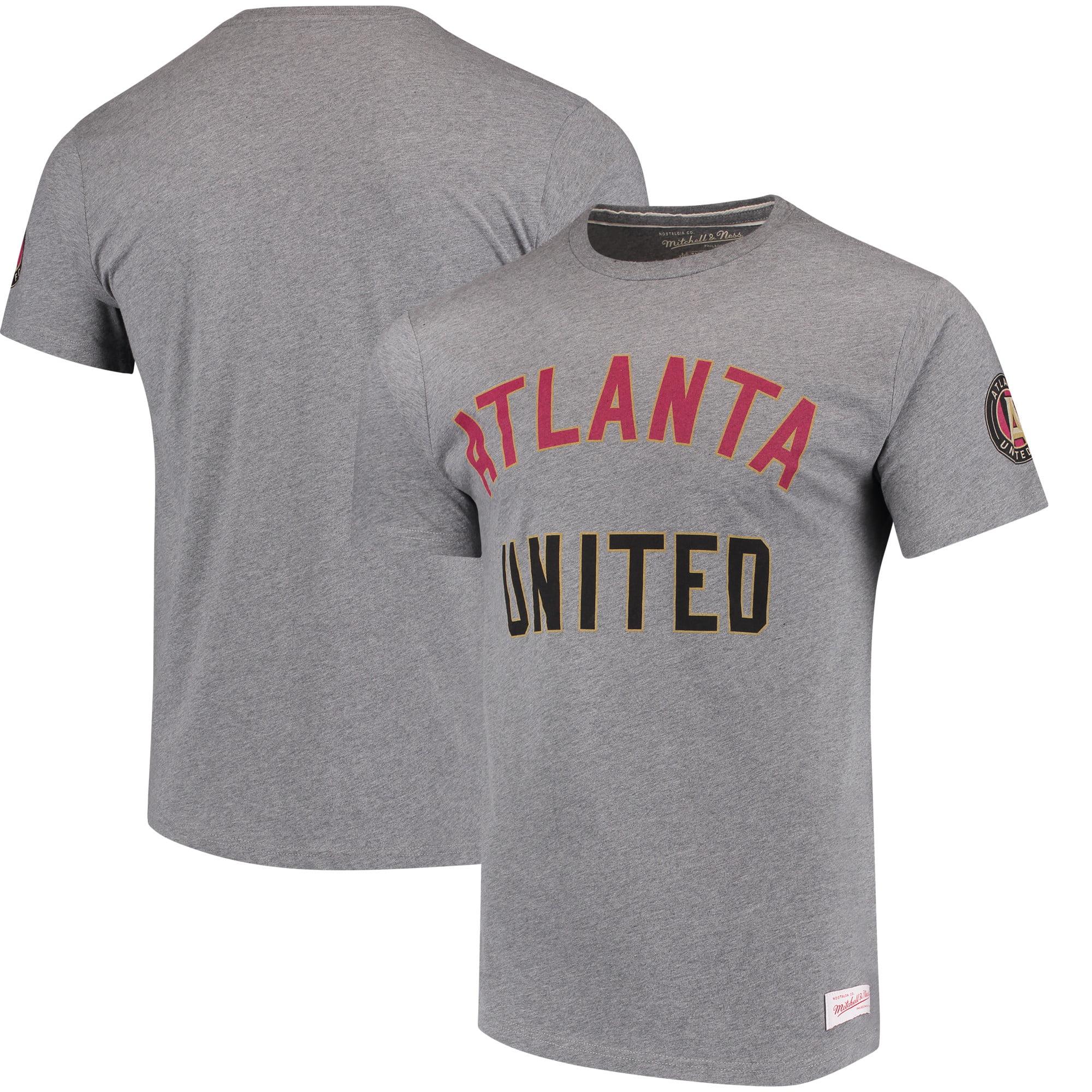 Atlanta United FC Mitchell & Ness Primary Logo Tailored T-Shirt - Gray