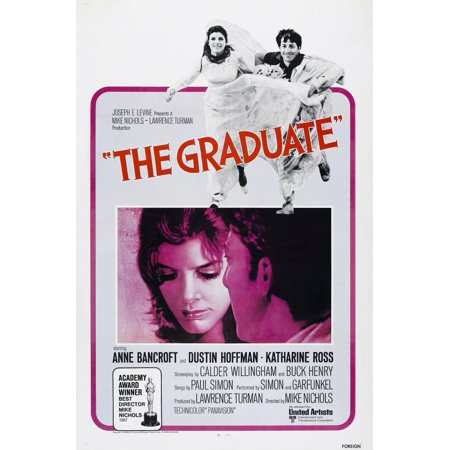 The Graduate Us Poster From Left Katharine Ross Dustin Hoffman 1967 Movie Poster Masterprint