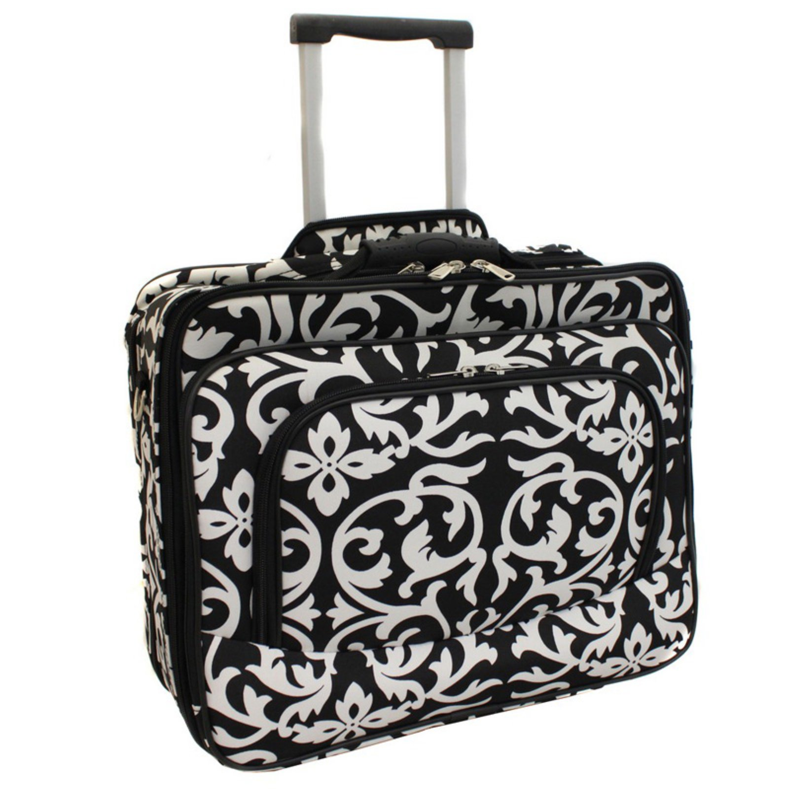 World Traveler Damask Rolling 17 in. Laptop Case